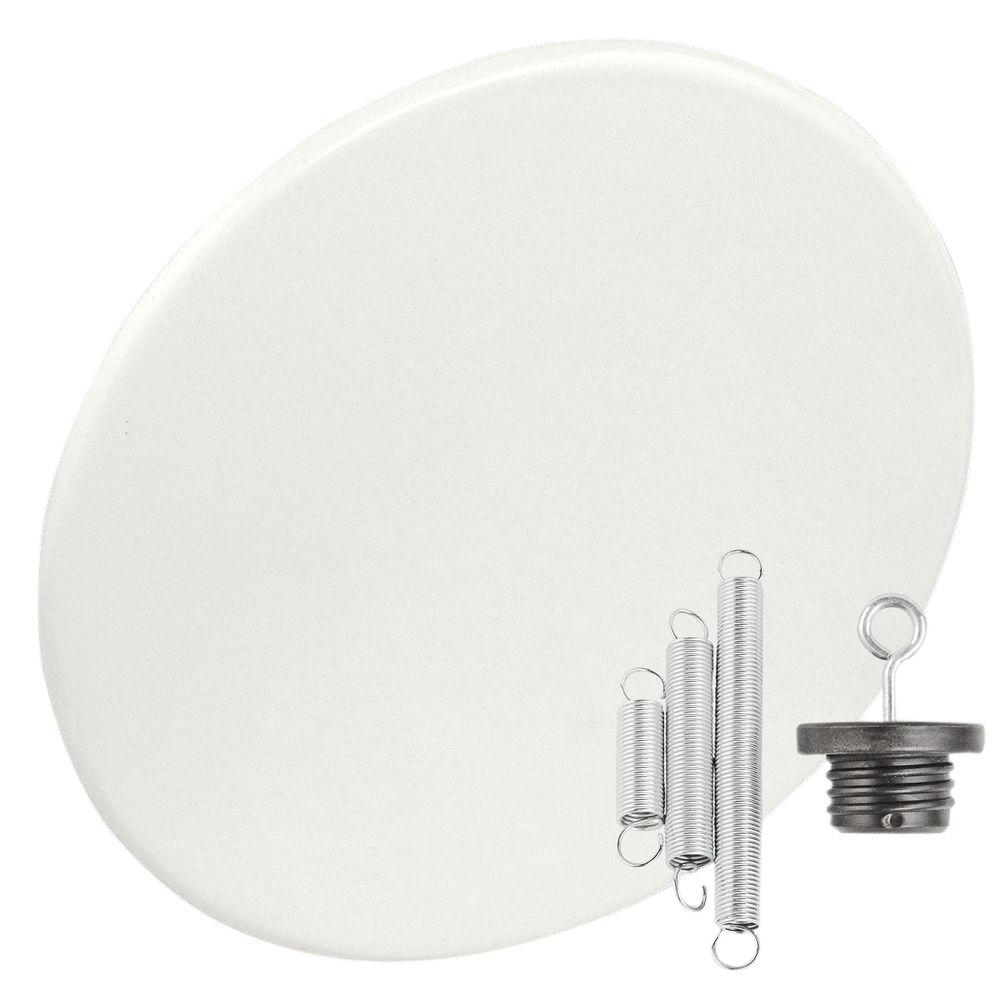 White Recessed Can Light With Blank Up Cover