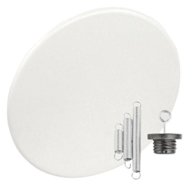 Round 8 in. White Recessed Can-Light with Blank-Up Cover