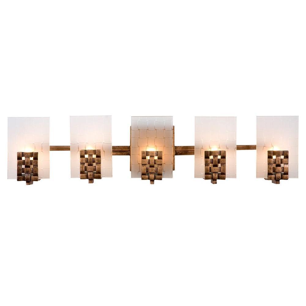 Varaluz Dreamweaver 5-Light Blackened Copper/New Bronze Vanity Light ...