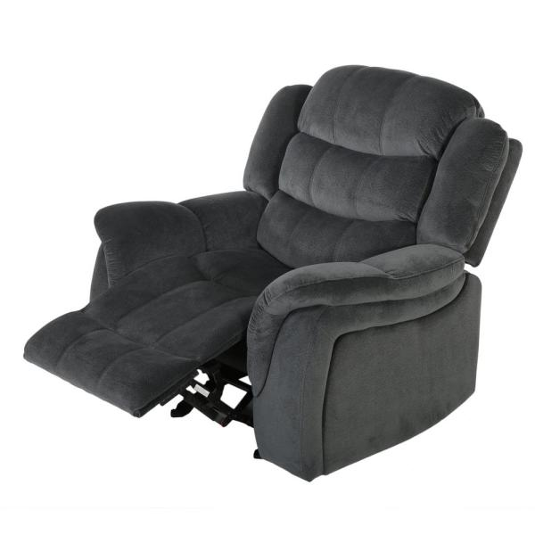 Noble House Hawthorne Steel Fabric Glider Recliner 296449