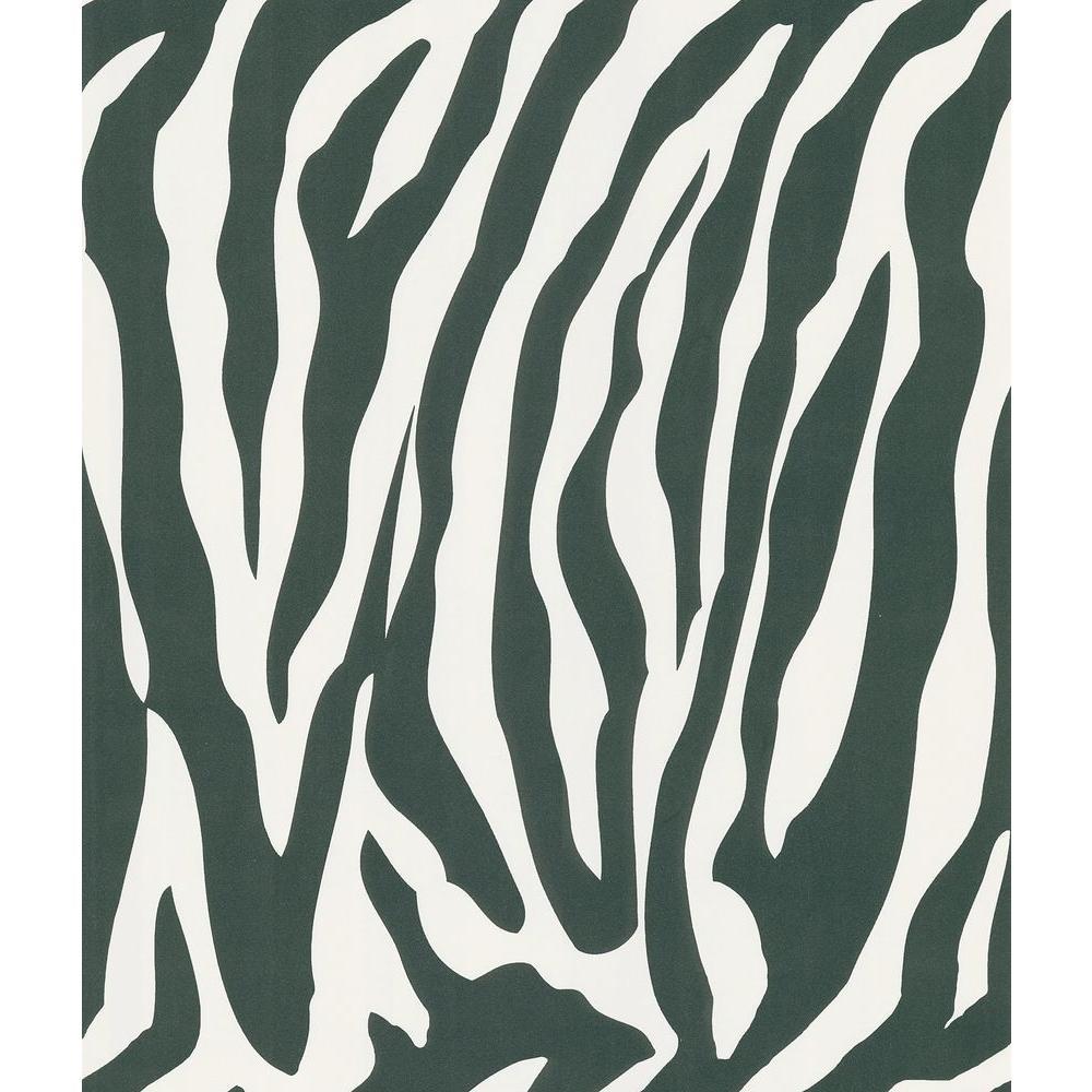 Black Zebra Skin Wallpaper Sample
