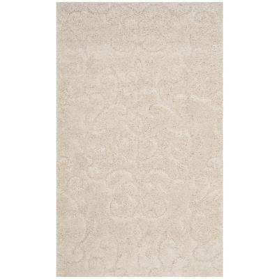 Florida Shag Cream 2 ft. x 4 ft. Area Rug