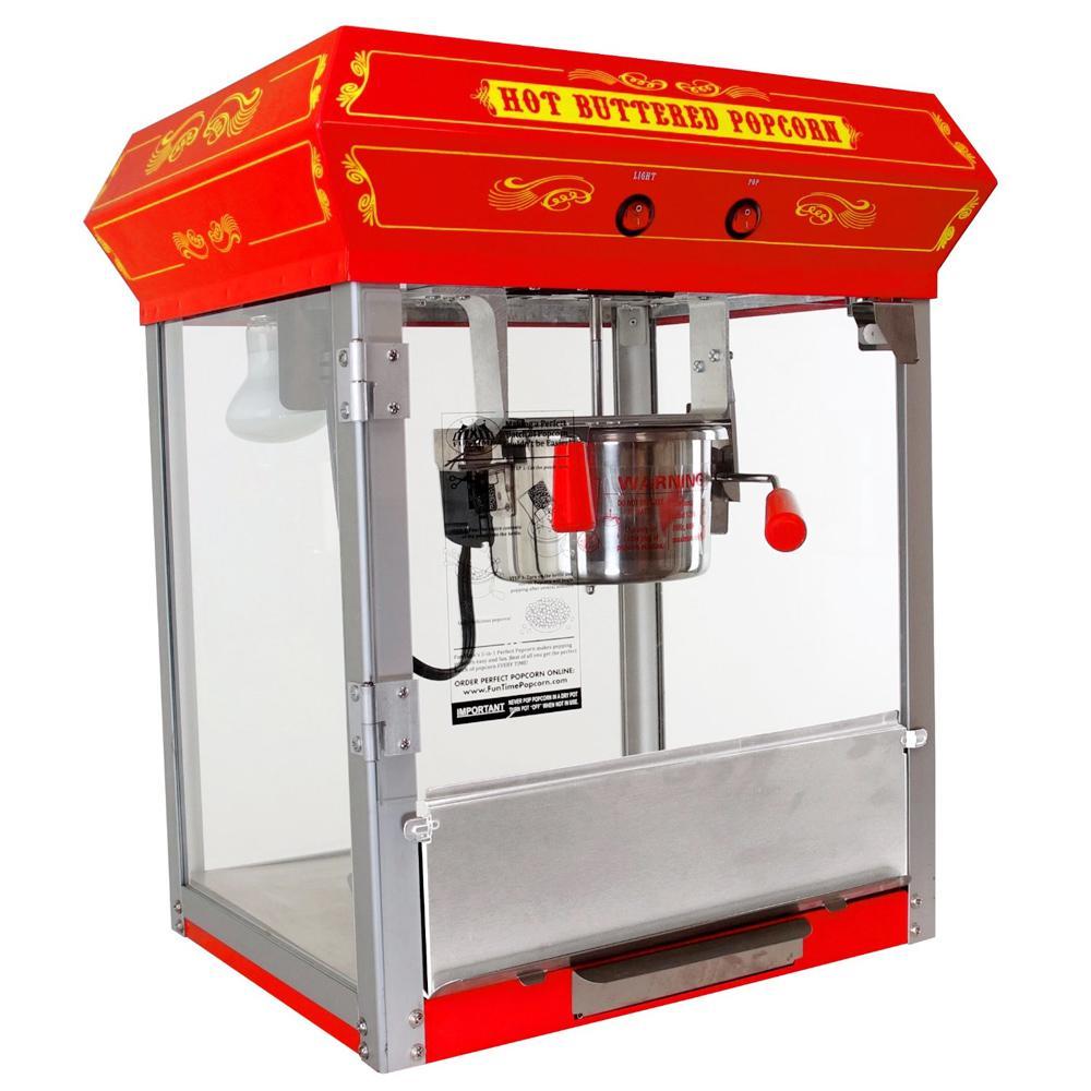 Carnival Style 4 oz. Red Countertop Popcorn Machine