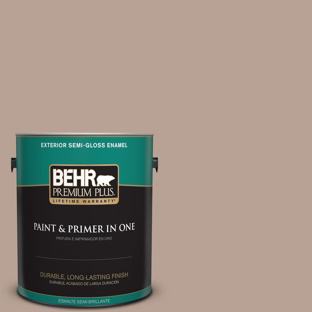1-gal. #N190-4 Rugged Tan Semi-Gloss Enamel Exterior Paint