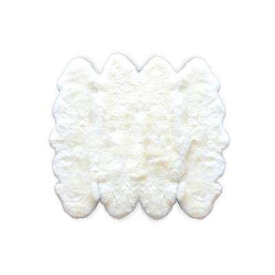 New Zealand Natural 7 ft. x 6 ft. Octo Sheepskin Area Rug