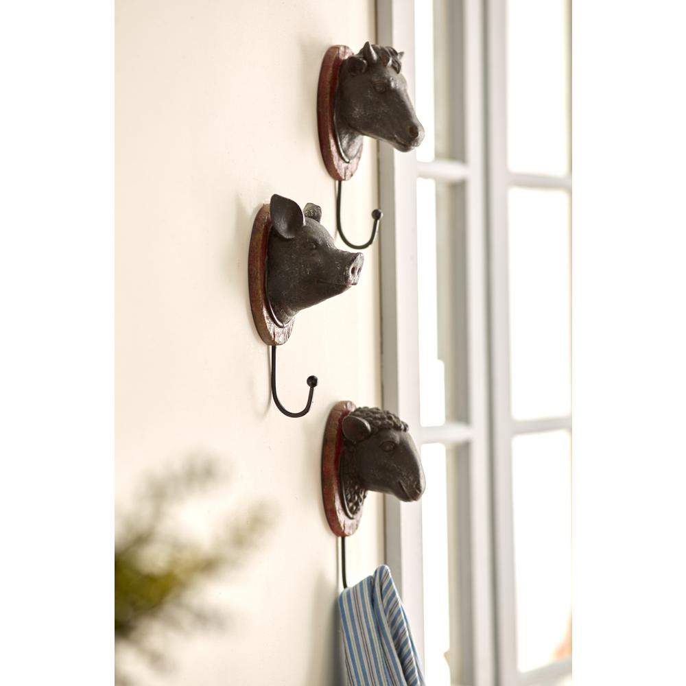 Delicieux Metal Cow/Pig/Sheep Wall Hangers