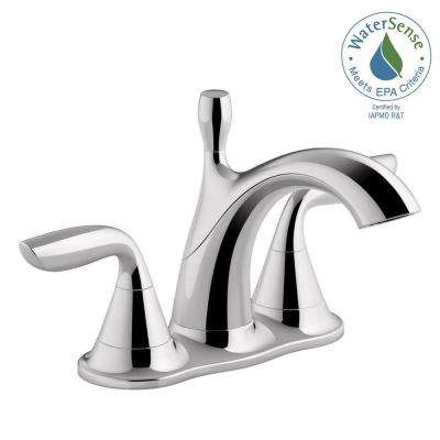 Willamette 4 in. Centerset 2-Handle Water-Saving Bathroom Faucet in Polished Chrome