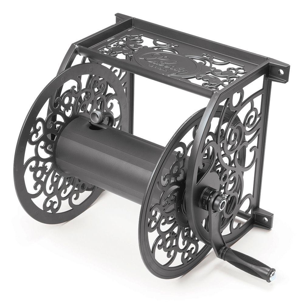 Merveilleux Liberty Garden Decorative Cast Aluminum Hose Reel