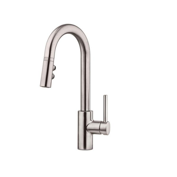 Stellen Single-Handle Bar Faucet with Pull-Down Sprayer in Stainless Steel