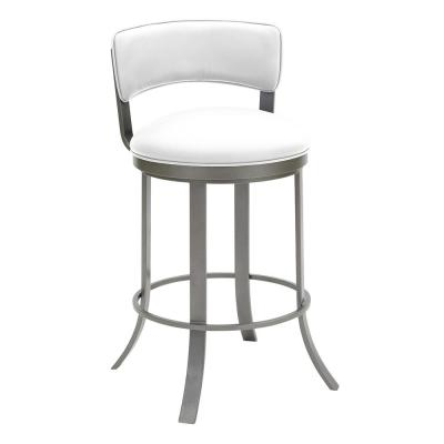 Camilla 26 in. Aspen Pure White Swivel Barstool