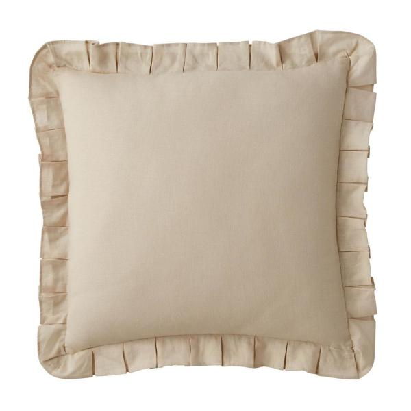 The Company Store Linen 18 in. Cotton Solid Sand Square Throw