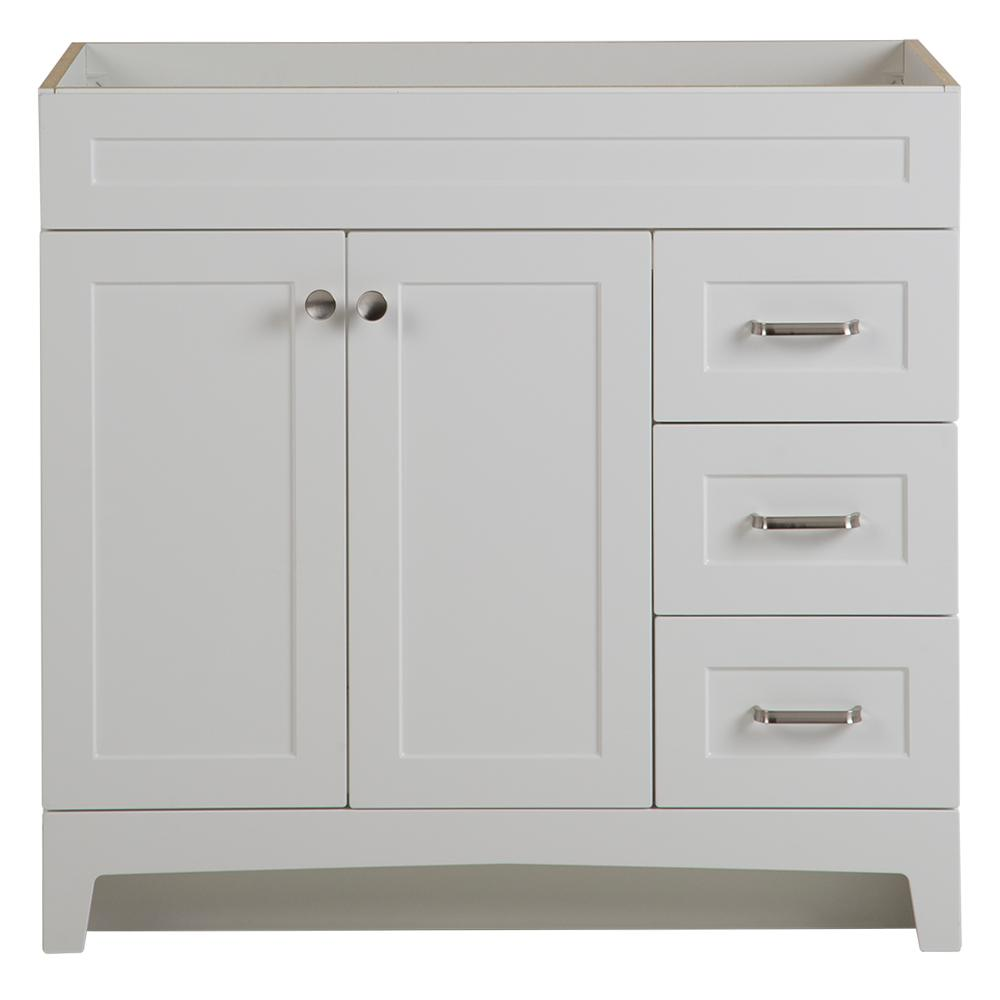 Home Decorators Collection Thornbriar 36 in. W x 21 in. D Bathroom Vanity Cabinet in Polar White