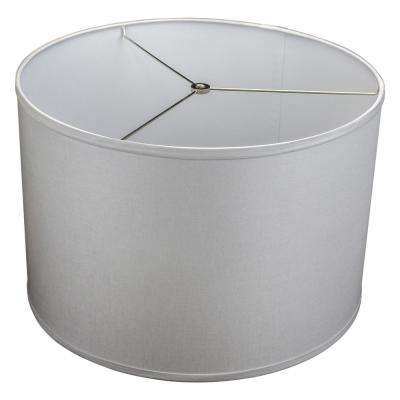 Fenchel Shades 18 in. Top Diameter x 18 in. Bottom Diameter x 12 in. Height Drum Lamp Shade - Linen Iron