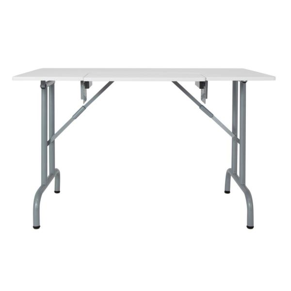 Sew Ready Folding Multipurpose//Sewing Table Craft Table Sturdy Computer Desk Silver//White