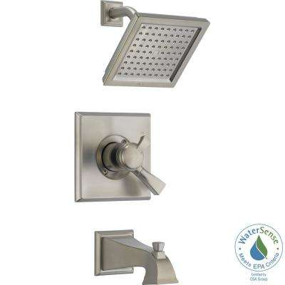 Dryden 1-Handle Tub and Shower Faucet Trim Kit in Stainless (Valve Not Included)
