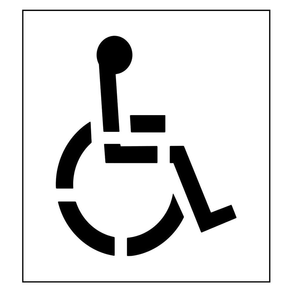 39 in. One Part Handicap Stencil with 3 in. Stroke