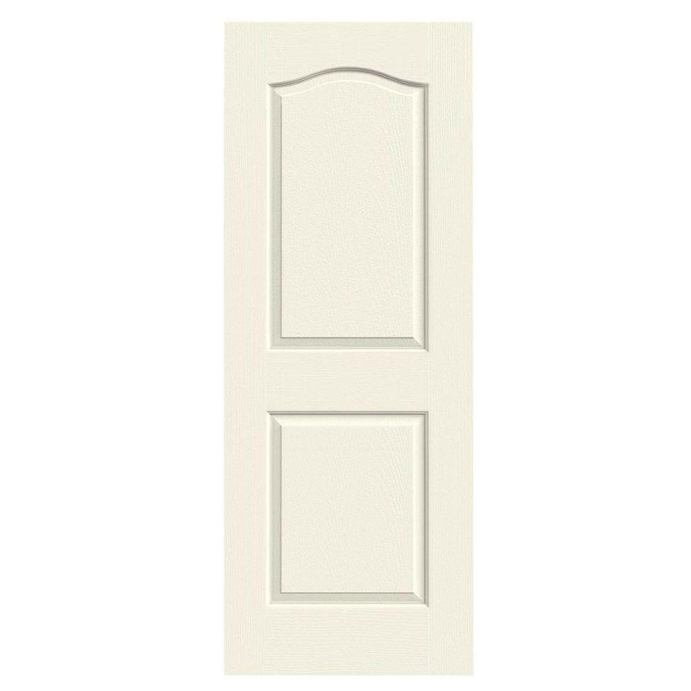 JELD-WEN 36 in. x 80 in. Camden Vanilla Painted Textured Solid Core Molded Composite MDF Interior Door Slab