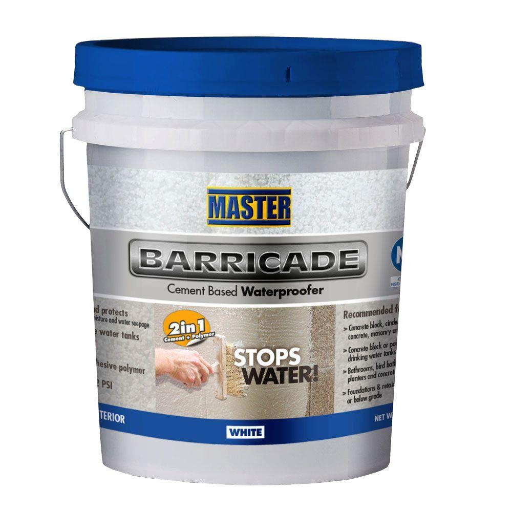 Master Products 40 lb  White Barricade Cement Based Waterproofer Sealant