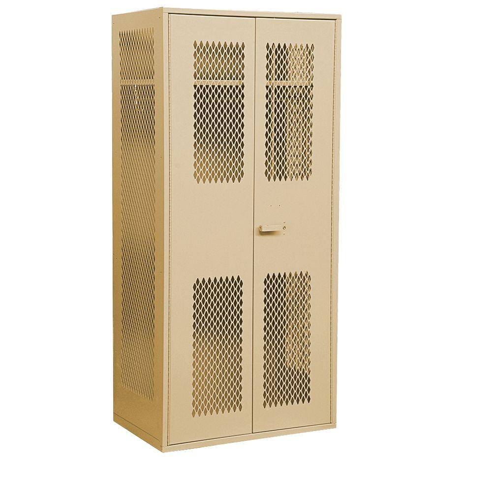 Salsbury Industries 7150 Series 36 in. W x 78 in. H x 24 in. D Military TA-50 Storage Cabinet in Tan