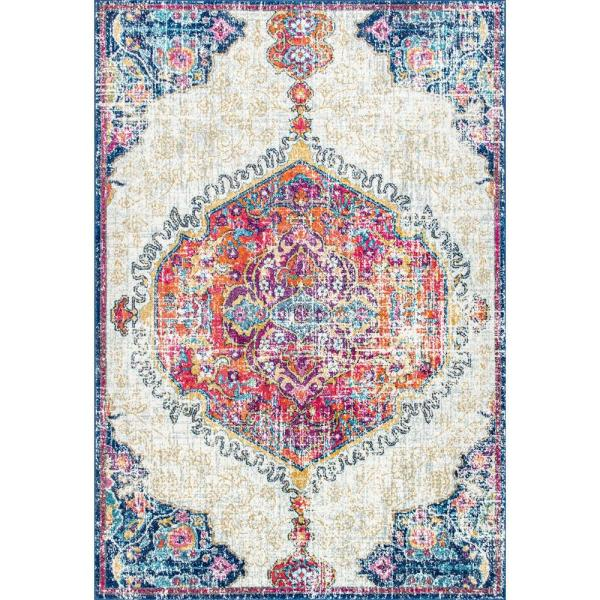 Maranda Vintage Medallion Multi 12 ft. x 18 ft. Area Rug