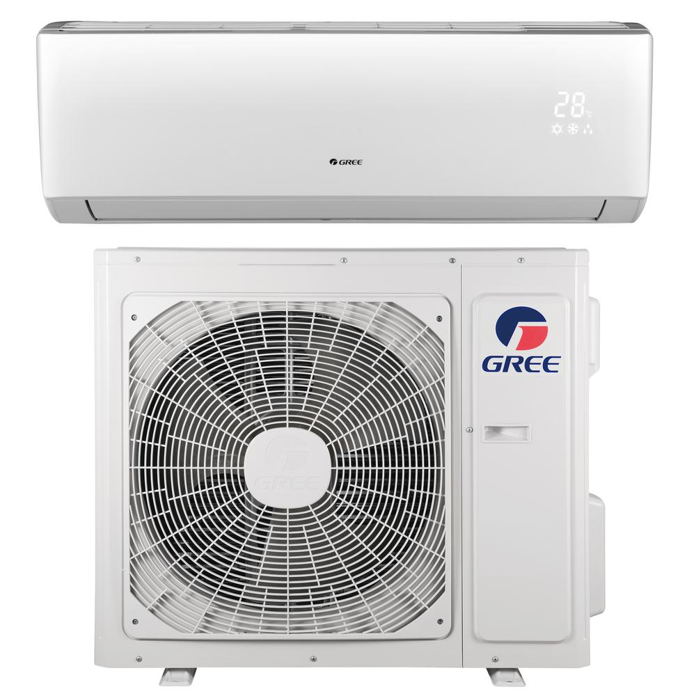 GREE LIVO 12,000 BTU 1 Ton Ductless Mini Split Air Conditioner with  Inverter, Heat, Remote 115-Volt/60 Hz