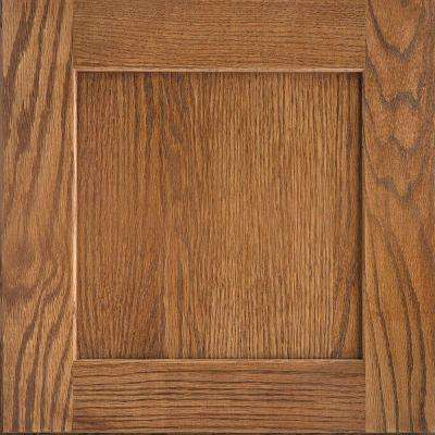 14-9/16x14-1/2 in. Cabinet Door Sample in Reading Oak Tawny