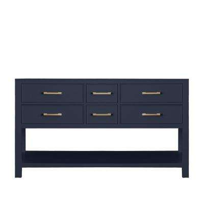 Brooks 60 in. W x 21.5 in. D Bath Vanity Cabinet Only in Navy Blue