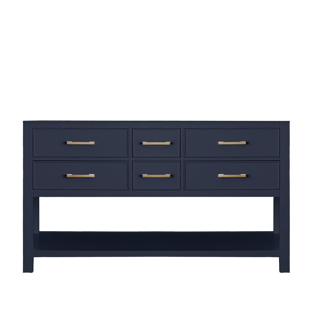 Brooks 60 in. W x 21.5 in. D Bath Vanity Cabinet Only in Navy Blue