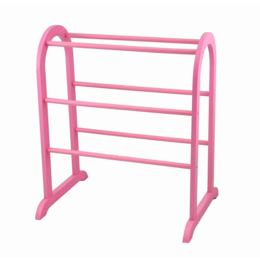 Kid's Pink Quilt Rack