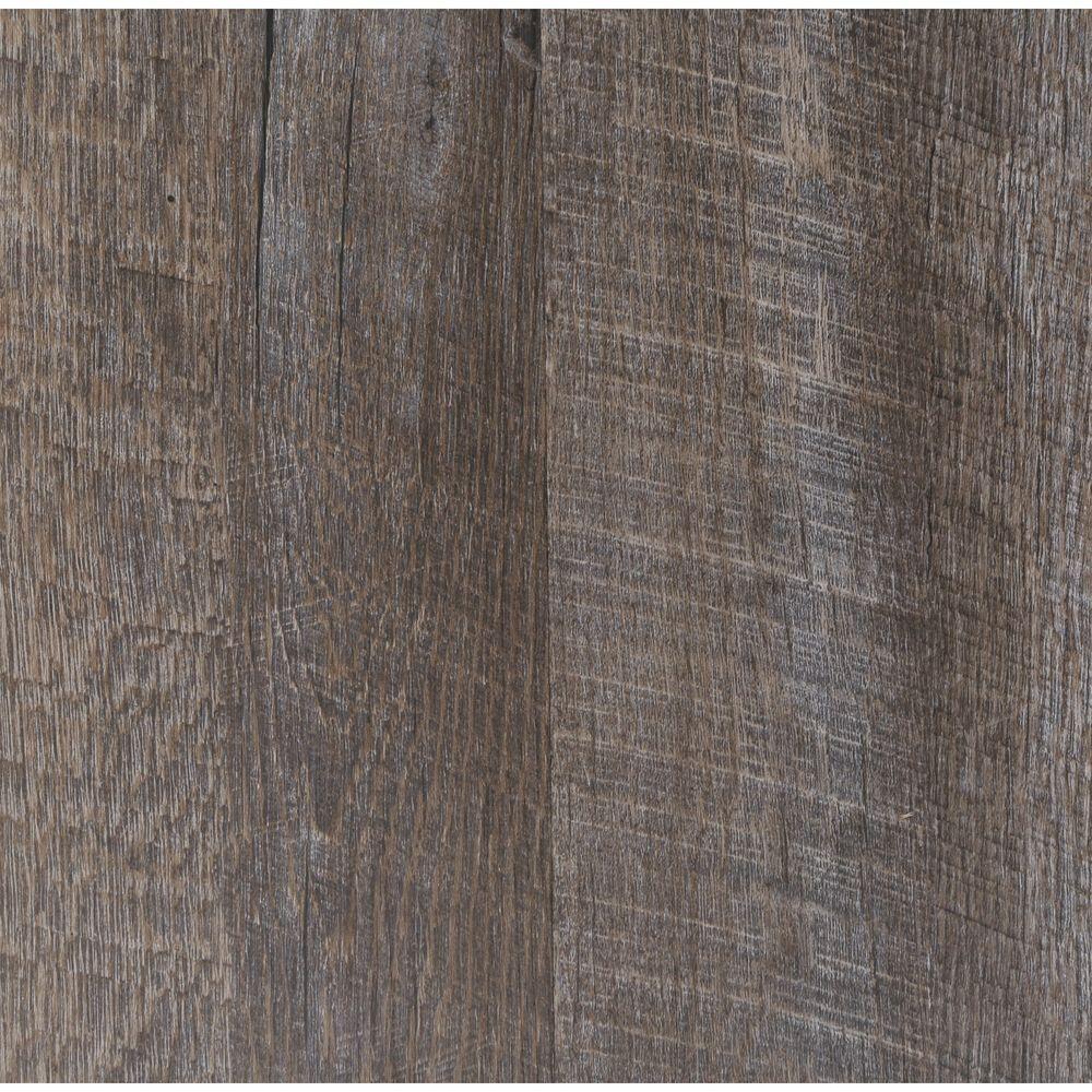 Embossed Oak Graphite 7 in. Wide x 48 in. Length Click Lock Luxury Vinyl Plank (23.36 sq. ft. / case)