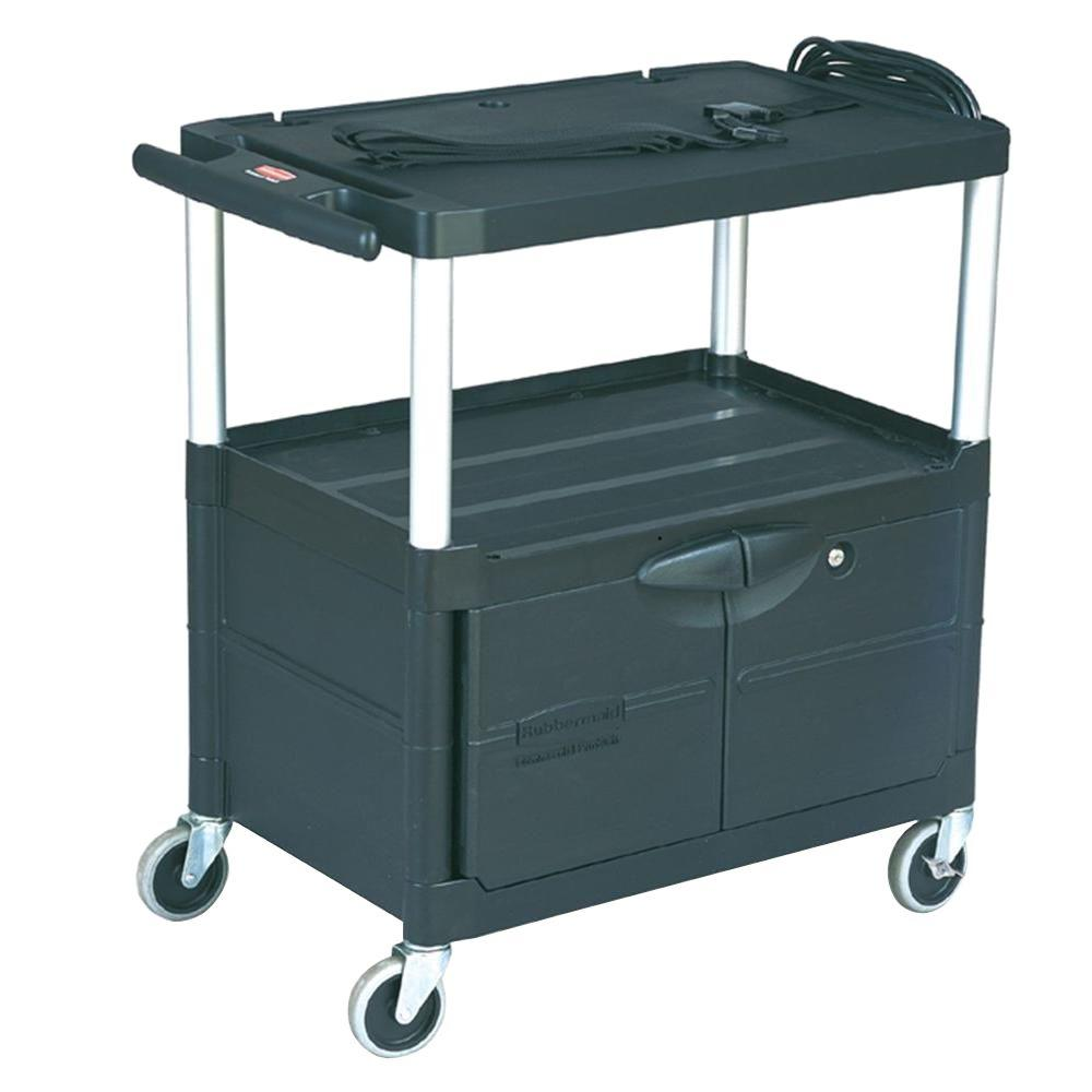 Rubbermaid Commercial Products Audio Visual Cart 3 Shelves