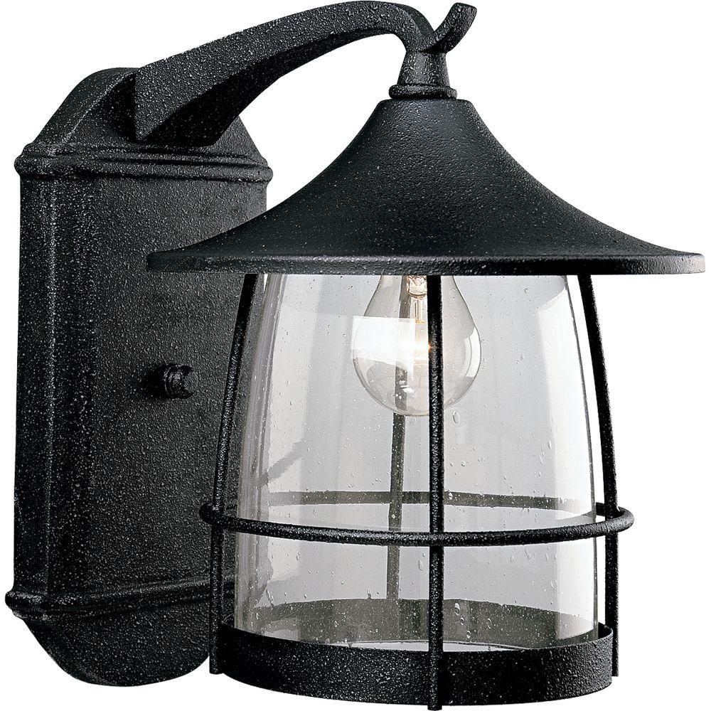 Progress Lighting Prairie Collection 1-Light 13.5 in. Outdoor Gilded Iron Wall Lantern Sconce