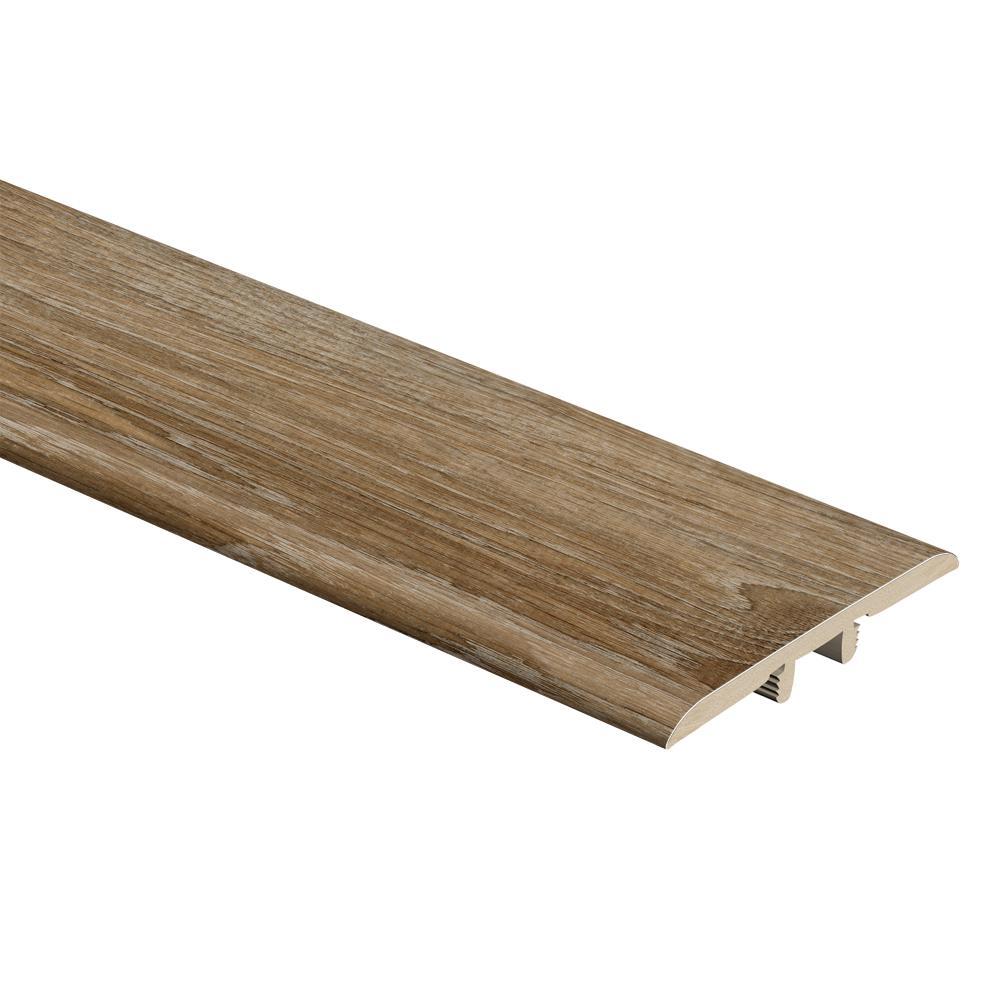 Woodacres Oak 1/3 in. Thick x 1-3/4 in. Wide x 72 in. Length Vinyl T-Molding