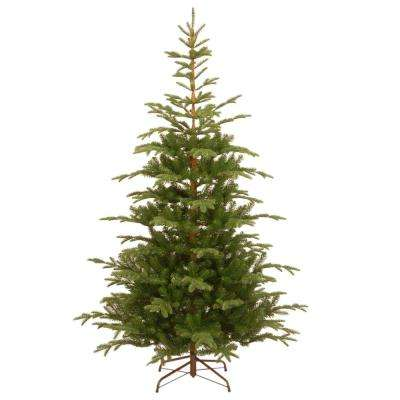 7-1/2 ft. Feel Real Norwegian Spruce Hinged Artificial Christmas Tree