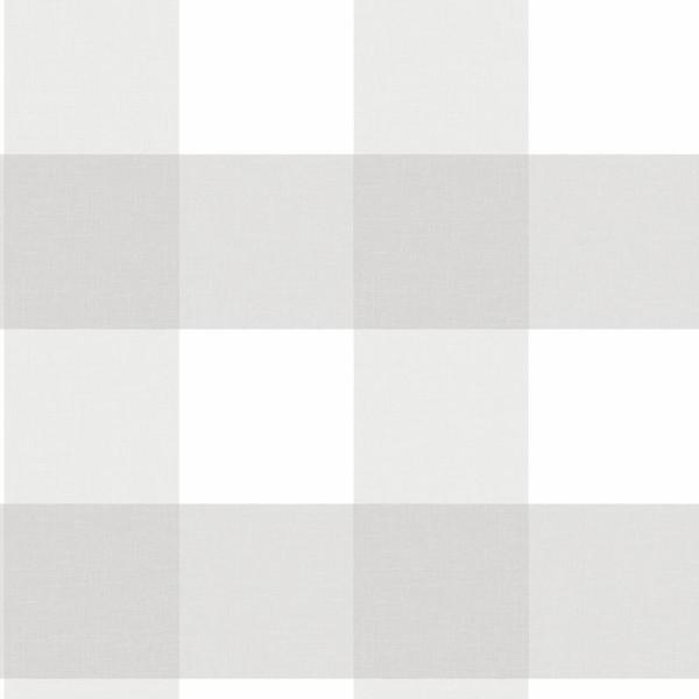 Farmhouse Plaid Grey Wallpaper Sample