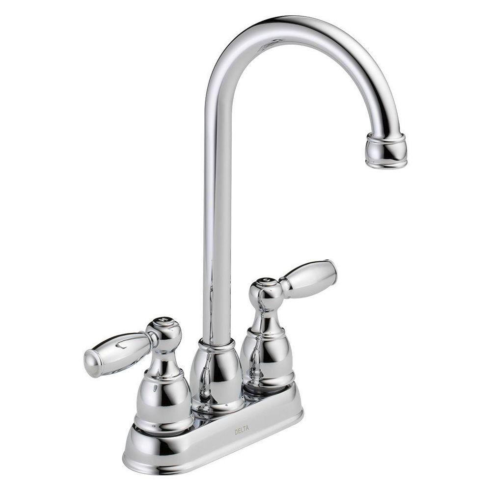 delta faucet. Delta Foundations 2 Handle Bar Faucet in Chrome B28911LF  The