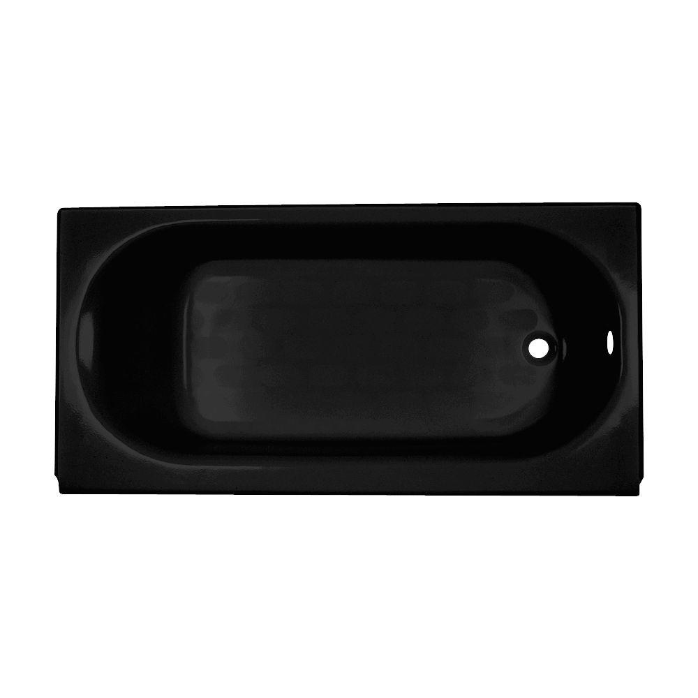 American Standard Princeton 5 ft. Right Drain Americast Bathtub with Integral Apron in Black-DISCONTINUED