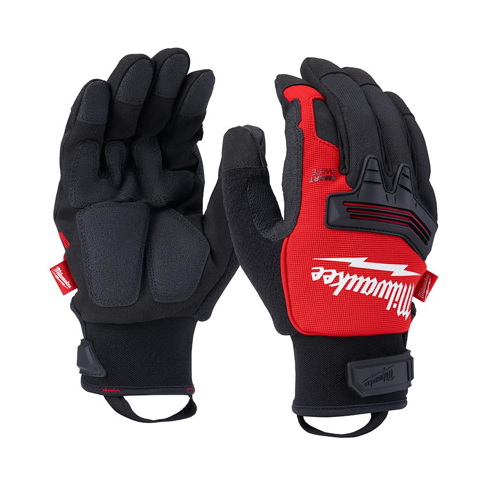 Milwaukee Milwaukee X-Large Winter Demolition Gloves, Adult Unisex, Black/Red