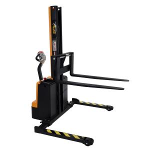 Vestil 1,500 lb. Capacity 63 inch Narrow Mast Stacker with Power Lift, Power... by Vestil