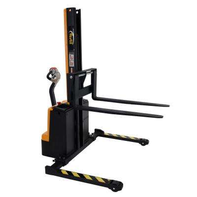 1,500 lb. Capacity 63 in. Narrow Mast Stacker with Power Lift, Power Drive, and Adjustable Forks