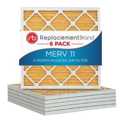 14 in. x 25 in. x 1 in. MERV 11 Air Purifier Replacement Filter (6-Pack)