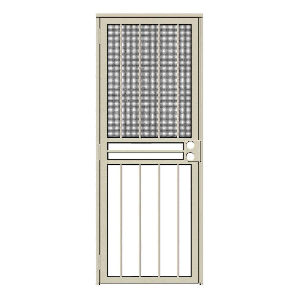 32 x 80 - Almond - Security Doors - Exterior Doors - The Home Depot