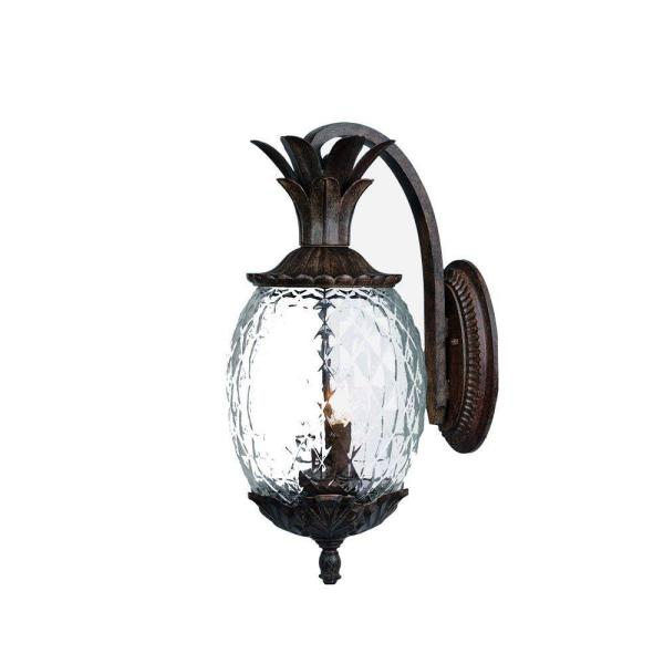 Lanai Collection 2-Light Black Coral Outdoor Wall Lantern Sconce