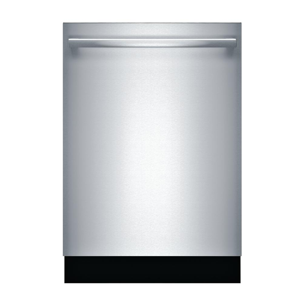 Bosch 800 Series Top Control Tall Tub Bar Handle Dishwasher in Stainless Steel (Silver) with Stainless Steel Tub, 42dBA From their legendary quiet performance to their promise of sparkling clean dishes, Bosch dishwashers deliver a lasting quality you've come to trust and expect. Premium materials, combined with exceptional workmanship, provide the kind of fit and finish you expect from a Bosch Dishwasher. Discover how Bosch dishwashers are flexible enough to handle whatever life brings. Color: Stainless Steel.