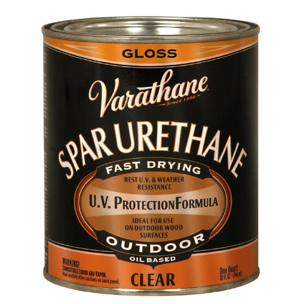 1-qt. Clear Gloss Oil-Based Exterior Spar Urethane (Case of 2)