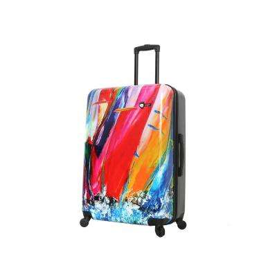 Duaiv 28 in. Sails Spinner Suitcase