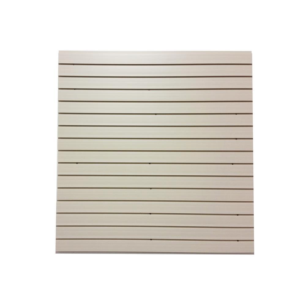 12 in. H x 48 in. L PVC Slat Wall Easy Panels in White (4-Piece/Carton)