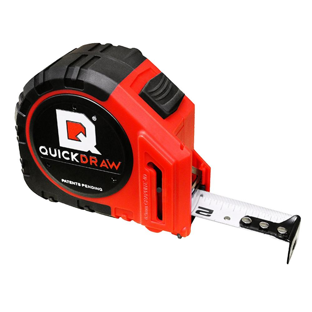 b7db7091bc587 QuickDraw 25 ft. Pro Self Marking Tape Measure-27330299 - The Home Depot