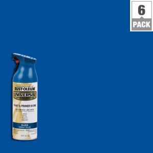 All Surface Gloss Cobalt Blue Spray Paint And Primer In One 6 Pack 245212 The Home Depot