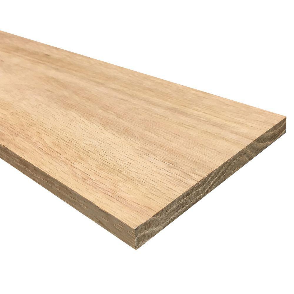 1/2 in. x 6 in. x 3 ft. Hobby Board Kiln Dried S4S Oak Board (10-Piece)